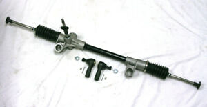 Black 74 78 Ford Mustang Ii Pinto Manual Steering Rack And Pinion Tie Rod Ends