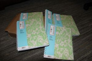 Martha Stewart Home Office Avery Damask Spiral Notebook 8 1 2 X 11 Lot Of 12