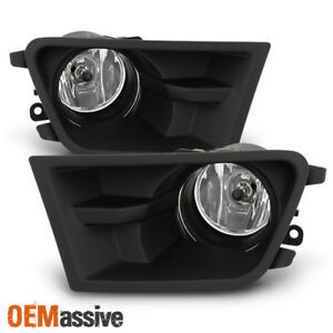 Fit 2010 2012 Ford Mustang Glass Lens Bumper Fog Lights W switch harness bulbs