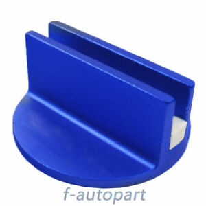 Blue Premium Slotted Universal Magnetic Jack Pad Pinch Weld Frame Rail Adapter