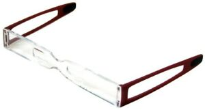 Eschenbach Super Small Folding Reading Glasses Clip Lead 2 5 Degrees Wine Red
