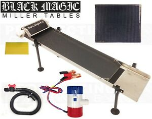Black Magic Pro Miller Table Fine Gold Recovery W Vortex Matting Pull Out Tray