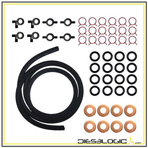 1987 1994 New 7 3l 6 9l Diesel Injector Return Line Kit For Ford E And F Series