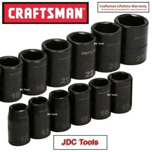 Craftsman 12 Pc 1 2 Drive Metric Impact Socket Set New