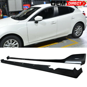 For 14 18 Mazda 3 4dr 5dr Mz Ms Style Abs Plastic Side Skirts