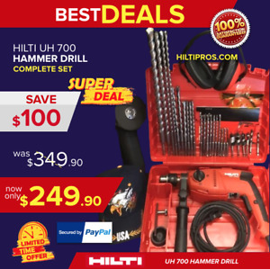 Hilti Uh 700 Hammer Drill New In Original Case Free Grinder Extras fast Ship