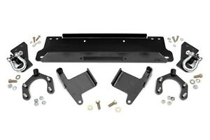Rough Country Winch Mounting Plate W D Rings Fits 07 18 Jeep Jk Wrangler 1173