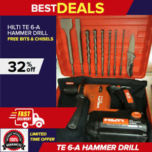 Hilti Te 6 a Cordless Rotary Hammer Excellent Free Bits Chisels Fast Ship