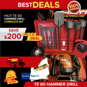 Hilti Te 2 a18 Rotary Hammer Drill Brand New Comes With Extra Bits And Chisels
