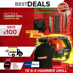 Hilti Te 6 s Preowned Free Bits And Chisels Great Condition Fast Shipping
