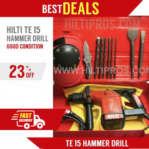 Hilti Te 15 Hammer Drill Good Condition Free Extras Fast Shipping