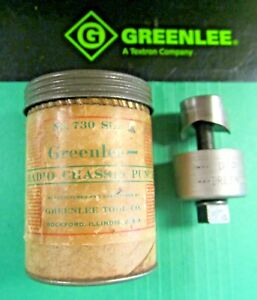 Greenlee Radio Chassis Punch 1 Preowned never Used great Condition fast Ship