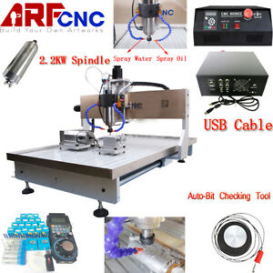 2 2kw Four 4 Axis Cnc Router 6090 Engraver Milling Engraving Carving Machine