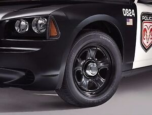 Dodge Charger Challenger Chrysler 300 Police Steel Black Wheel 18 X 7 5 Mopar