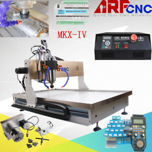 Cnc 6090 2200w 4axis Machine Desktop Cutting Router Cutter Engraving Milling Usb