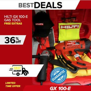 Hilti Gx 100 E Gas Tool Brand New Free Grinder Extras Durable fast Shipping