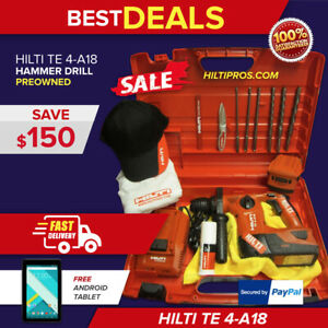 Hilti Te 4 a18 W Hilti Hard Case Preowned Free Android Tablet Fast Ship