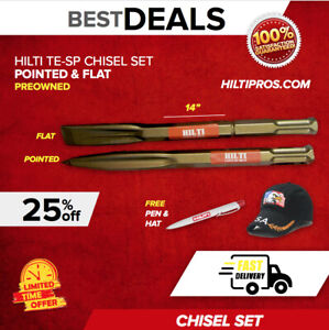 Hilti Pointed And Flat Chisels Te sp For Te 805 905 1000 1500 Fast Ship