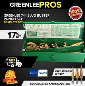 Greenlee 744 Slugbuster Punch Set Preowned Excellent Condition Fast Shipping