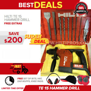 Hilti Te 15 Rotary Hammer Drill Great Condition Free Extras Fast Shipping