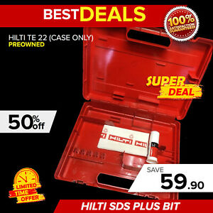 Hilti Te 22 case Only Great Condition Strong Original Fast Shipping