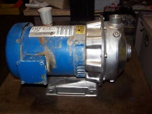 Goulds 1x1 1 4 6 Stainless Steel Centrifugal Pump 1 Hp 3450 Rpm 1st1e5d4