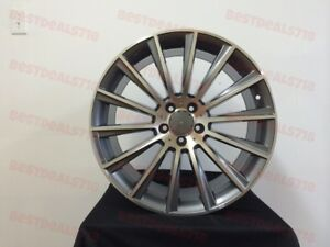 18 Staggered S Class Amg Style Rims Wheels Gunmetal Fits Mercedes Benz 5x112