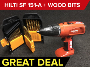 Hilti Sfh 151 a 15 6v Nimh Cordless Hammer Drill Preowned Free Wood Bits Set