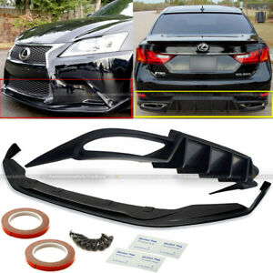 For 13 15 Gs350 F Sport Sk Style Front Walker Style Rear Bumper Diffuser Lip