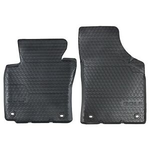 06 10 Vw Volkswagen Gti Mk5 Front Euro Rubber Floor Mats Oval Retention Clip Oem