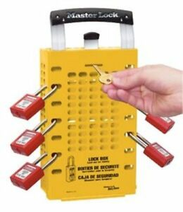 Master Lock Group Lock Box Yellow 10 American Lock Pad Locks Red 2 Keys
