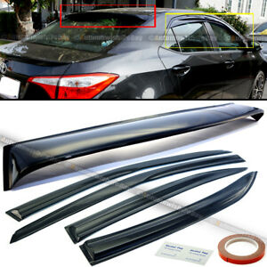 For 14 18 Corolla 4 Pics Mu Style Window Rear Window Roof Visor Spoiler Combo