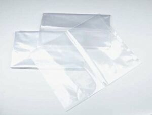 9 X 12 1 Mil Clear Plastic Flat Open Poly Bag 100 Pack Brand