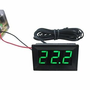 New Digiten Dc 12v Green Digital Led Thermometer 2m Probe 50 110c Temperature