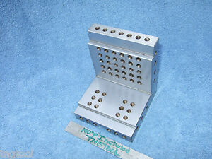 Angle Plate Step 4 3 4 Inch W vee Machinist Toolmaker Hardened Grind Fixture
