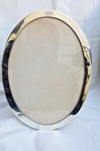 Tiffany Co Circa 1879 Sterling Silver Large Oval Picture Frame Initialed Bb