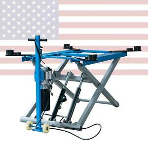 6200 Lb Mid Rise Scissor Automotive Lift Hydraulic Movable Lift 110 Voltage
