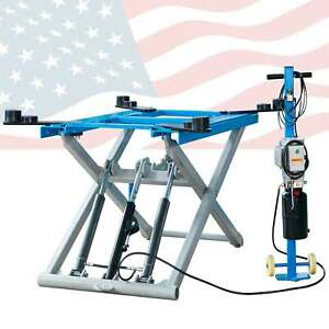 6200 Lb Rise Scissor Automotive Lift Hydraulic Movable Lift new Arrival 110v