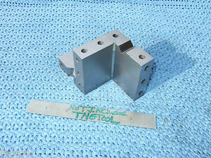 Compound Angle Plate Vee s 2 1 2 Angle Machinist Precise Inspection Grinder Used