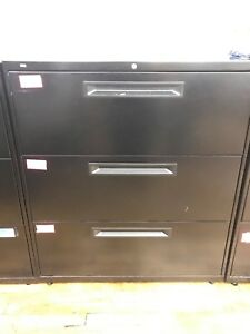 Hon Company 683lp 600 Series Three drawer Lateral File 36w X19 1 4d