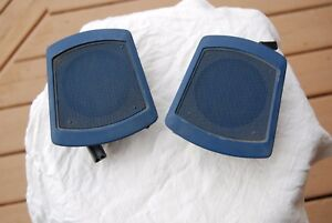 1971 72 73 Chrysler Imperial Set 2 Dash Speakers With Grills Nice Originals