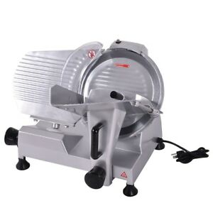 Electric Commercial Butcher Deli Meat Cheese Bread Slicer 12 Blade Saw Machine