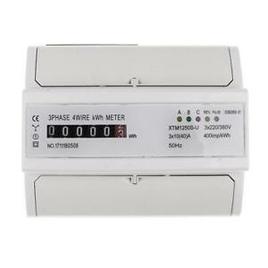 50hz 3 Phase 4 Wire Din Kwh Watt Hour Energy Meter 10 40 a Remote Control