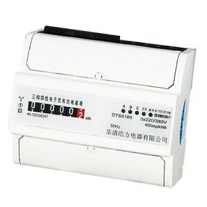 3 Phase 4 Wire Din Rail Kwh Watt Hour Energy Meter Remote Control 1 5 6 a