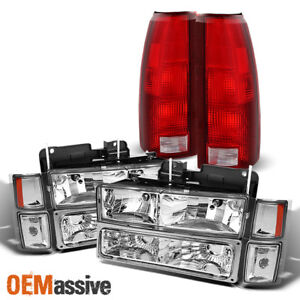 Fit 94 98 C k Suburban Blazer Tahoe Clear Headlight corner bumper tail Light
