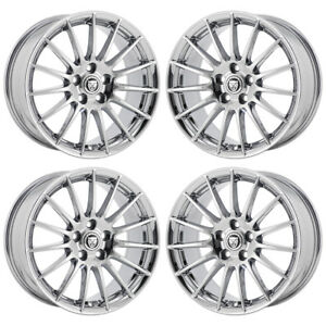 17 Jaguar S Type Pvd Chrome Wheels Rims Factory Oem Set 59803