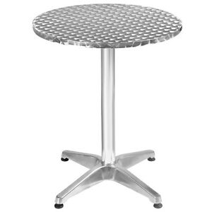 Home Patio Bar Pub 23 1 2 Stainless Steel Aluminum Round Table Restaurant Desk