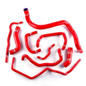 Red Silicone Coolant Radiator Hose Kit For Volkswagen Vw Golf Gti Mk4 1 8t 00 06