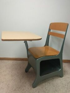 Vintage Old School Chair Youth Student Desk Kids Mid Century Modern Furniture