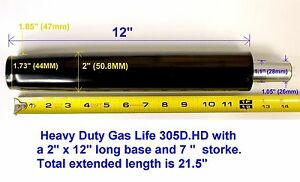 Heavy Duty 305d hd Office Chair Gas Lift Cylinder 2 Inch Base 350lb